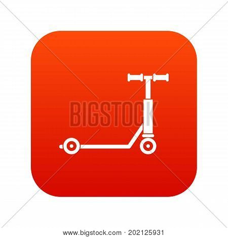 Scooter icon digital red for any design isolated on white vector illustration