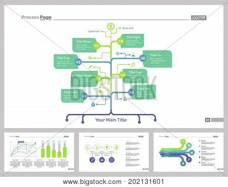 Infographic design set can be used for workflow layout, diagram, annual report, presentation, web design. Business and workflow concept with process, flow, line and bar charts.
