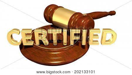 Certified Legal 3D Illustration