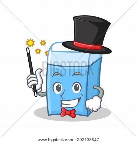 Magician eraser character mascot style vector illustration