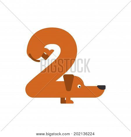 Figure 2 Dog. Dachshund Font Two. Home Pet Abc Symbol. Home Animal An Alphabet Sign