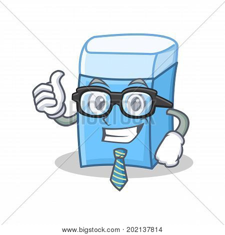 Businessman eraser character mascot style vector illustration