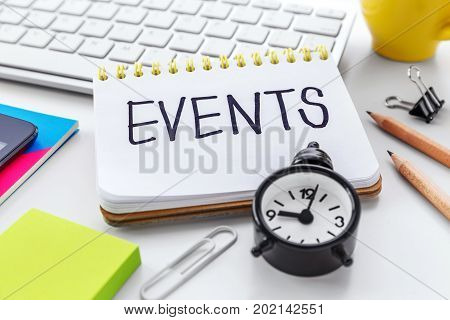 Event Planning On Computer Desk