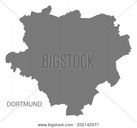 Dortmund City Map Grey Illustration Silhouette Shape