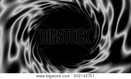 Abstract background with black hole. Space digital backdrop. 3d rendering