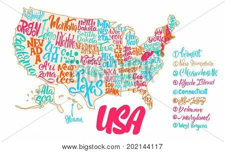 Silhouette Map USA Vector Photo Free Trial Bigstock