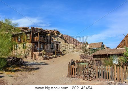 California, USA - July 2, 2015: Calico ghost town in California, Mojave