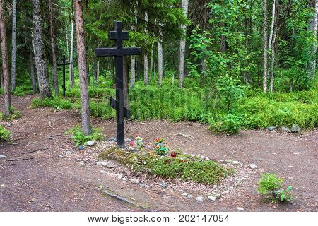 The Place Of Mass Burials Of Those Repressed In The 1920 – 1930S On The Sekirnaya Mountain On Solovk