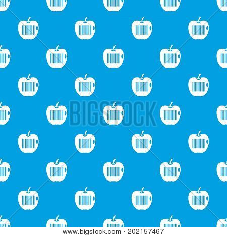 Code to represent product identification pattern repeat seamless in blue color for any design. Vector geometric illustration poster