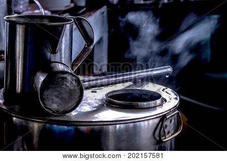 Stainless steel pot ancient tea, coffee pot