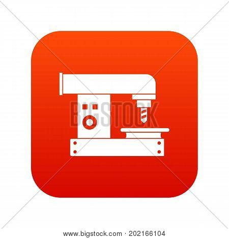 Drilling machine icon digital red for any design isolated on white vector illustration