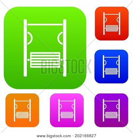 Playground simulator set icon in different colors isolated vector illustration. Premium collection