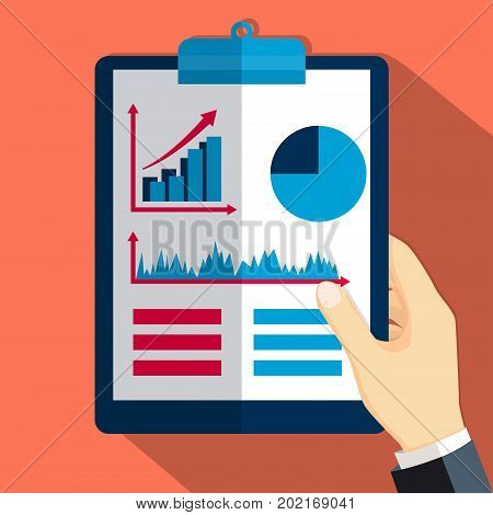 Financial report consulting project management and development concepts for business analysis-Flat design illustration
