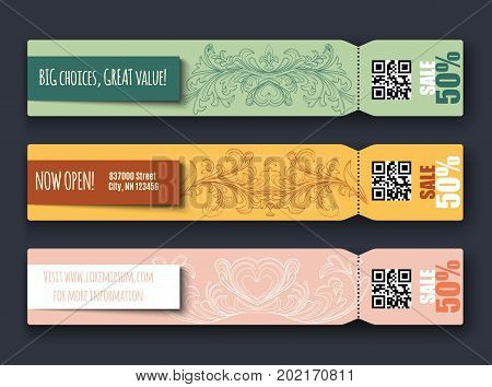 Big sale concept banners Vector illustration for your design