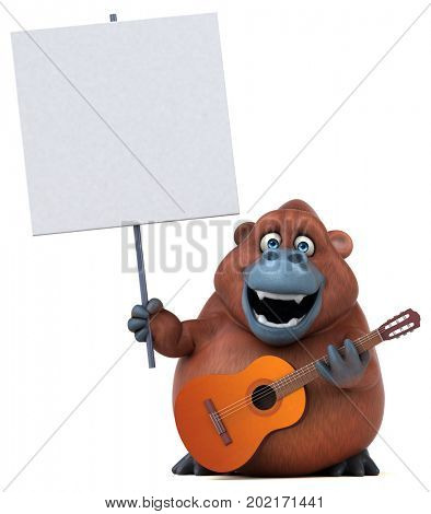 Fun orang outan - 3D Illustration