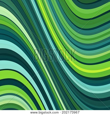 Stripes pattern with undulate lines and curves background. Vector illustration.