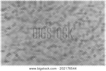 gray squares with transparency. grey color background. abstract monochrome grunge texture. halftone effect. vector illustration