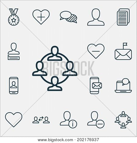 Communication Icons Set. Collection Of Mail, Internet Site, Communication And Other Elements