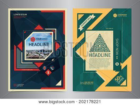 Set of Multi-Purpose Business brochure design layout template.