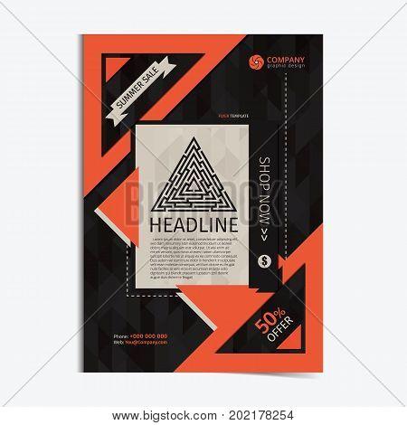 Multi - Purpose Business brochure design layout template.