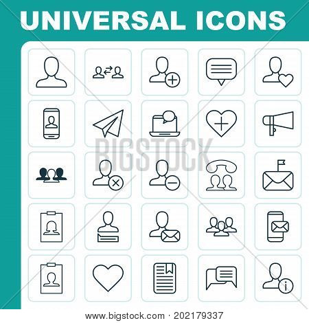 Communication Icons Set. Collection Of Ban, Significant, Badge And Other Elements