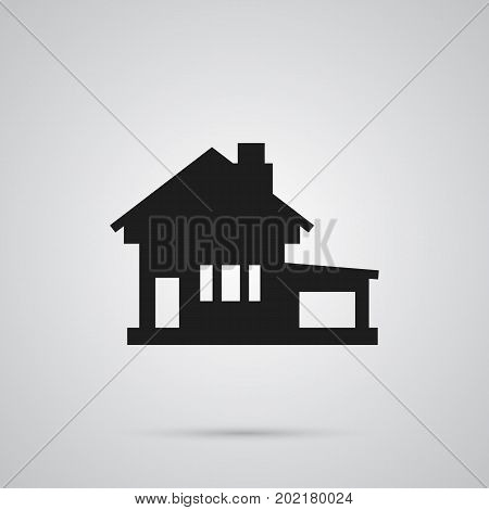 Vector Home Element In Trendy Style.  Isolated House Icon Symbol On Clean Background.