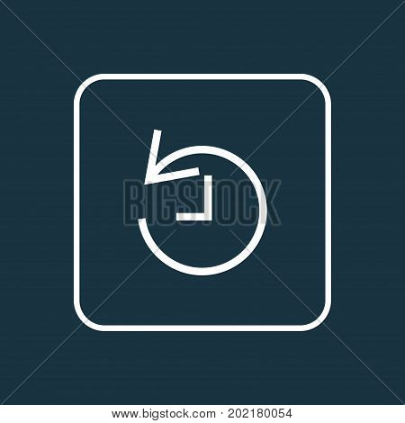 Premium Quality Isolated History Element In Trendy Style.  Deadline Outline Symbol.