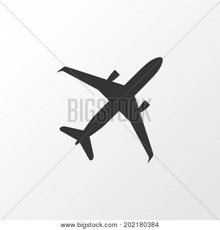 Premium Quality Isolated Land Element In Trendy Style.  Airplane Icon Symbol.