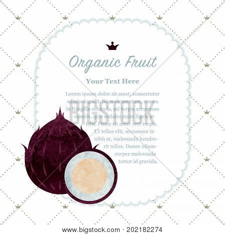 Colorful Watercolor Texture Nature Organic Fruit Memo Frame Coconut