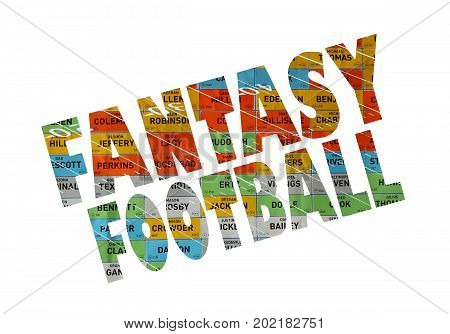 a very colorful fantasy football sign icon
