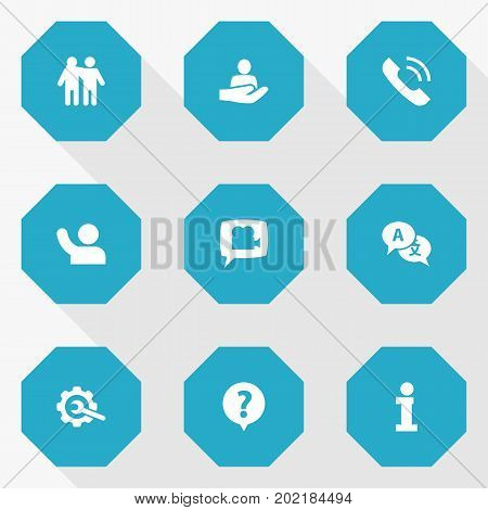 Collection Of Undertake, Human, Friendship And Other Elements.  Set Of 9 Maintenance Icons Set.