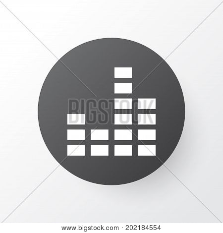 Premium Quality Isolated Equalizer Element In Trendy Style.  Mixer Icon Symbol.