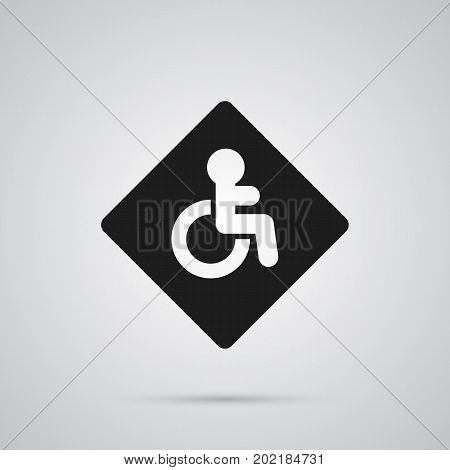 Isolated Disabled Sign Icon Symbol On Clean Background