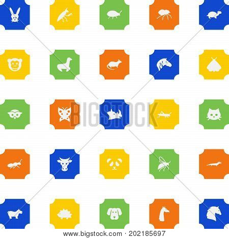 Collection Of Bear, Kine, Hound And Other Elements.  Set Of 25 Animal Icons Set.