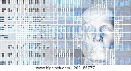 Virtual Healthcare Medicine Technology Solutions as Concept 3D Illustration Render