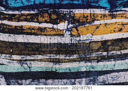 Lines, Hot Batik, Background Texture, Handmade On Silk, Abstract Surrealism Art