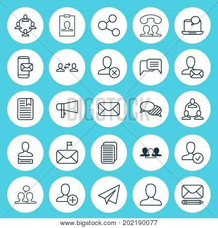 Social Icons Set. Collection Of Speaking, Business Exchange, Insert And Other Elements