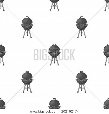 Grill for barbecue.BBQ single icon in monochrome style vector symbol stock illustration .