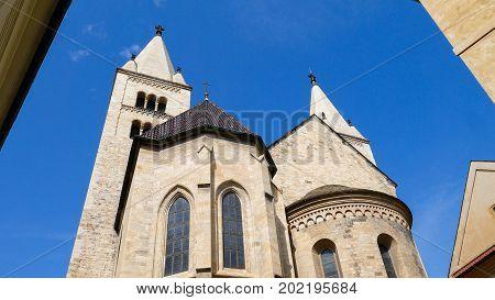 St George's Church Prague Hradcany. Relics of the saint Great Martyr Lyudmila