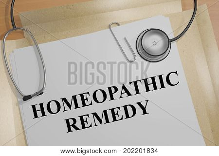 Homeopathic Remedy - Medical Concept