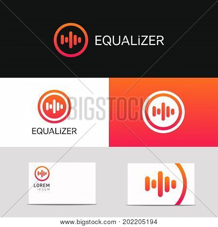 Abstract Music Voice Icon Audio Sign Company Logo Vector Design