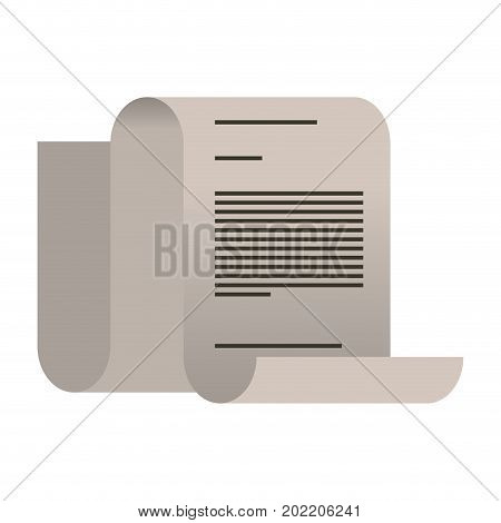 white background with continuously sheet contract document vector illustration