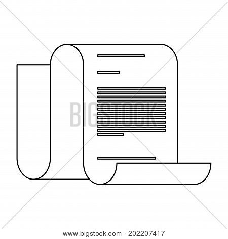 monochrome continuously sheet contract document vector illustration
