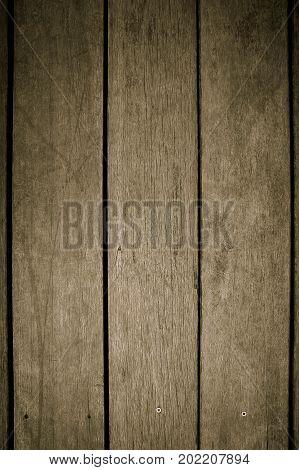 Texture slat wooden older style background on dark tone