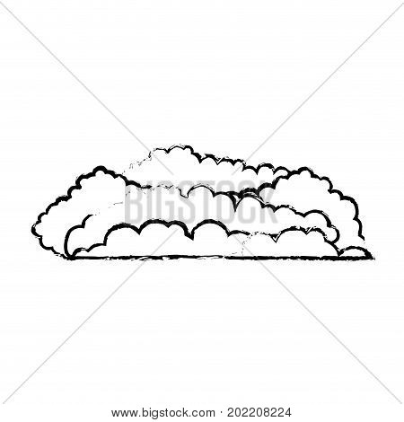cloud cumulus blurred monochrome in white background vector illustration