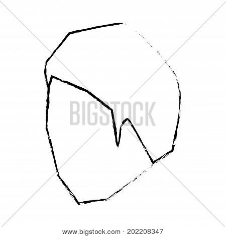 man head faceless monochrome and blurred with short hairstyle vector illustration