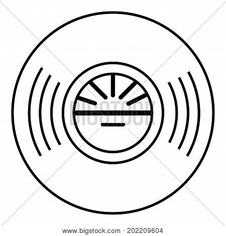 Vinyl record icon. Outline illustration of vinyl record vector icon for web design isolated on white background