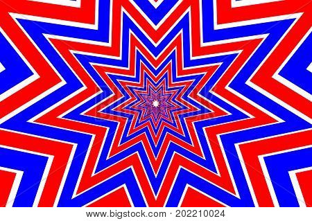 nine pointed star colorful abstract vector pattern