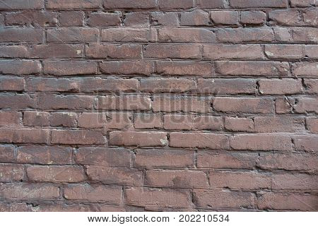 Surface Of Old Weathered Painted Brick Wall