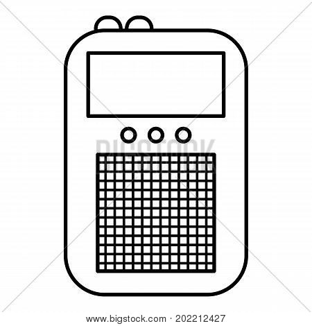 Portable radio icon. Outline illustration of portable radio vector icon for web design isolated on white background